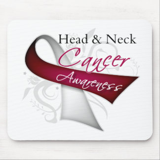 Scroll Ribbon Head and Neck Cancer Awareness Mousepad