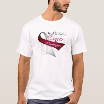 Scroll Ribbon Head and Neck Cancer Awareness T-Shirt
