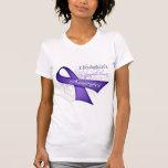 Scroll Ribbon Hodgkin's Lymphoma Awareness T Shirt