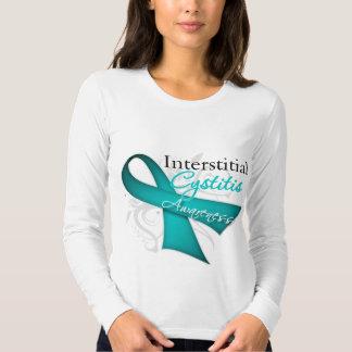 Scroll Ribbon Interstitial Cystitis Awareness T-shirt