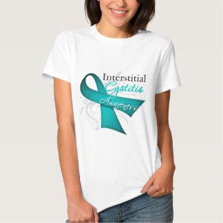 Scroll Ribbon Interstitial Cystitis Awareness T Shirt
