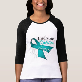 Scroll Ribbon Interstitial Cystitis Awareness T-shirts