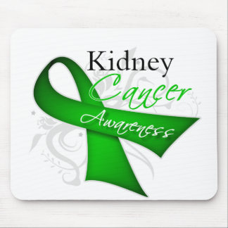 Scroll Ribbon Kidney Cancer Awareness Mouse Pads