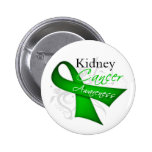 Scroll Ribbon Kidney Cancer Awareness Pinback Button