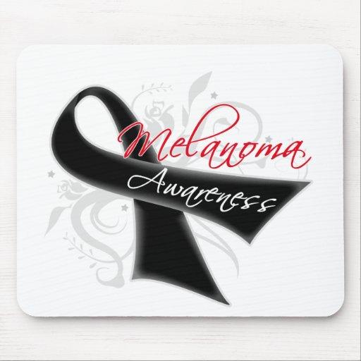 Scroll Ribbon Melanoma Awareness Mouse Pad