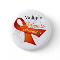 Scroll Ribbon - Multiple Sclerosis Awareness Pinback Button