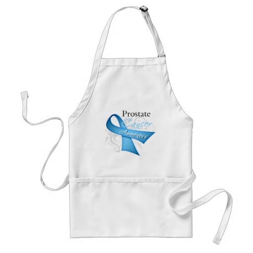 Scroll Ribbon Prostate Cancer Awareness Aprons