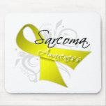 Scroll Ribbon Sarcoma Awareness Mouse Pad
