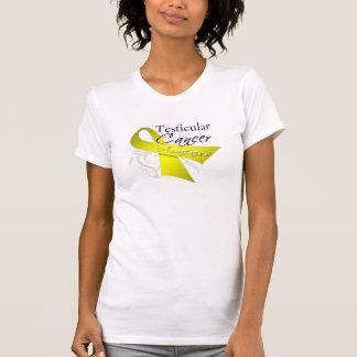 Scroll Ribbon Testicular Cancer Awareness T Shirt