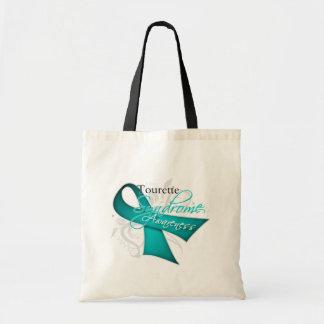 Scroll Ribbon - Tourette Syndrome Awareness Tote Bag