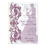 Scroll Silhouetted Bride & Groom Wedding Invite 2B