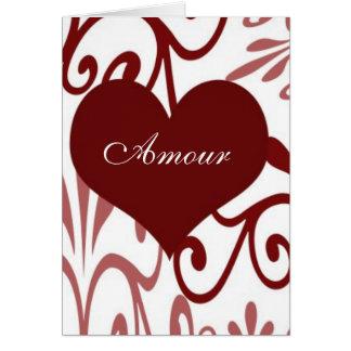 Scroll Valentine-French Card