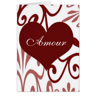 Scroll Valentine-French Card