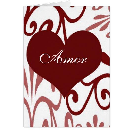 Scroll Valentine-Spanish Card
