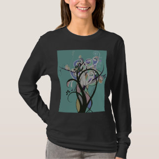 Scroll Vines Inverted By Lundy Media T-Shirt
