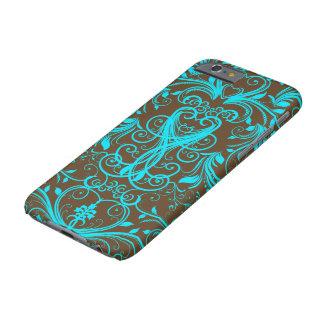 Scroll Work, Aqua Blue - iPhone 6 Case