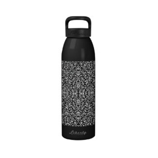 Scroll Work Lace White Reusable Water Bottle