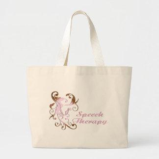 scrollart leaves 2 pink-brown large tote bag