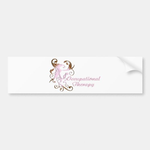 scrollart leaves 2 pink-brown no box2 bumper sticker