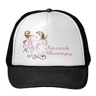scrollart leaves 2 pink-brown trucker hat