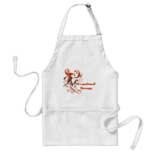 scrollart leaves 2red-bl no boxv adult apron