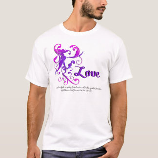 scrollart leaves love purple no box T-Shirt