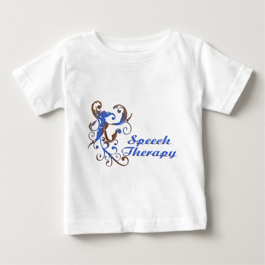 scrollart leaves ST blue brown2 Baby T-Shirt
