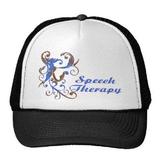 scrollart leaves ST blue brown2 Trucker Hat