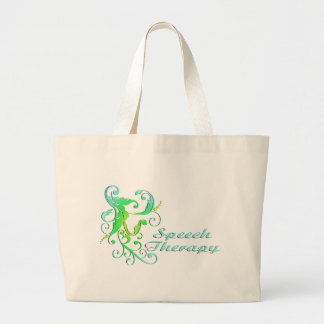 scrollart leaves ST green Tote Bag