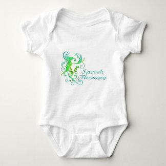 scrollart leaves ST green Infant Creeper