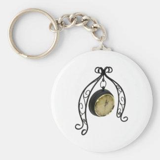 ScrolledClock013110 Basic Round Button Keychain