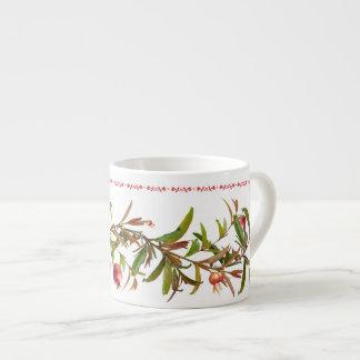 Scrolling Pomegranate Branches Espresso Cup