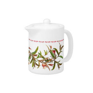 Scrolling Pomegranate Branches Teapot