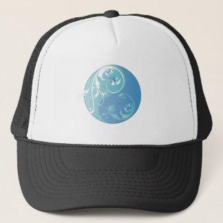 Scrolling Yin & Yang (Earth blues) Trucker Hat