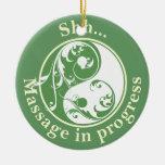 Scrolling Yin Yang Massage Do Not Disturb Ornament