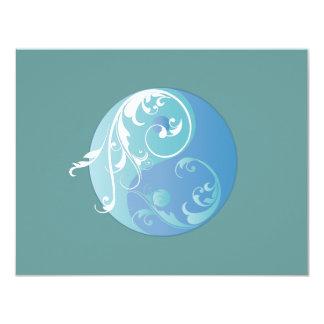 Scrolling Yin Yang Symbol (blues) Card