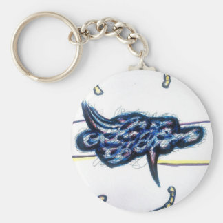 Scrolls Among the Form of Flux Keychain