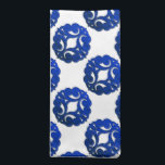 """Scrolls Curls Blue Design 1 Napkin<br><div class=""""desc"""">Pretty metallic scrolling curls. Decorative curls design 1 in rich blue color.</div>"""