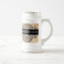 Scrolls rustic country western saloon wedding beer stein