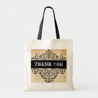 Scrolls rustic country western saloon wedding tote bag