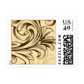 Scrolls with Flourish Postage
