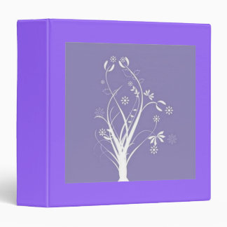 Scrolls with flowers on purple ground - 3 ring binder