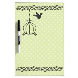 Scrollwork Birdcages Dry Erase Board