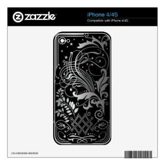 Scrollwork with leaves skin for iPhone 4S