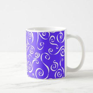 Scrolly - reverse periwinkle blend coffee mug