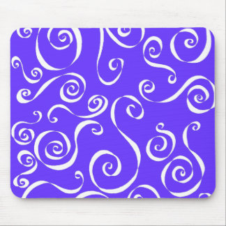 Scrolly - reverse periwinkle blend mouse pad