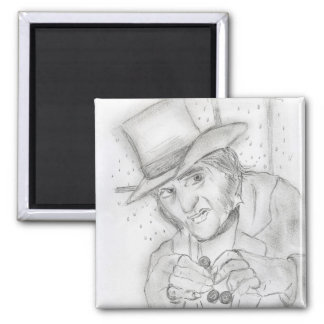 Scrooge-1 2 Inch Square Magnet
