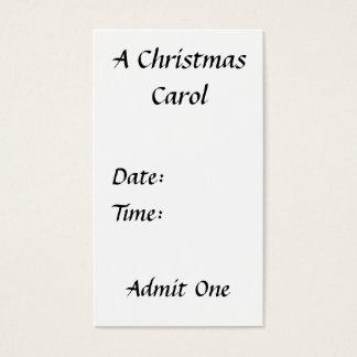 Scrooge - A Christmas Carol Ticket