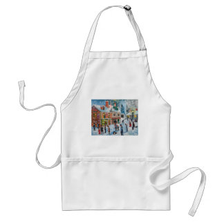 Scrooge A Christmas Carol winter snow scene ghosts Adult Apron