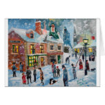 Scrooge A Christmas Carol winter snow scene ghosts Greeting Card